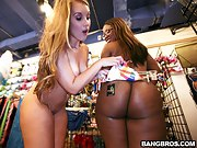 We got Bella and Nikki Stone who are 2 hot biggest wazoo babies that..