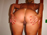Huge bum whores are fooling around, posing and teasing with their..