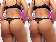 Glamorous girls with huge rumps