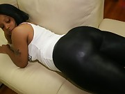 Huge Black Ebon Butt in Yogapants!