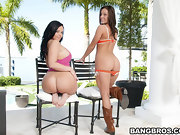 Big ass beauties Gracie Glam her friend Emma Heart