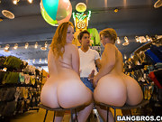 Kelsey Michaels and Alina Aldamen's Fortunate fat butt Shopper
