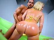 That babe bounced her consummate tight ass all over his schlong. It..