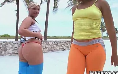 This weeks feature stars Daiquiri Divine & Paris. Those two ladies are super fine with Monster big asses.