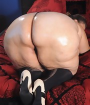 Massive culo harlots are fooling around, posing and teasing with their huge taut bums