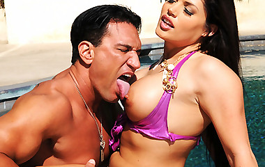 Astounding monster ass massive love bubbles bikini honey jasmeen gets nailed hard on the beach chair in these sexy fucking videos