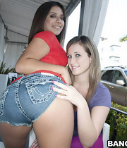 Those two broads have biggest booty for days. Briella is a hawt little Latin chick that takes it in the can and Jynx hales from Texas where apparently biggest asses grow on tree's.