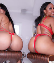 Juicy pretty butts, Imani Rose and Rose. I promise you'll love watching these 2 huge gazoo females receive there pussies stuffed full of cock